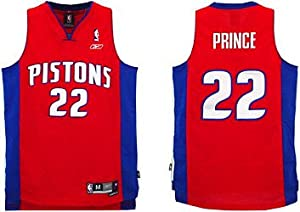 Detroit Pistons Red Swingman Alternate Jersey - Tayshaun Prince - XL ONLY by Detroit Athletic Co