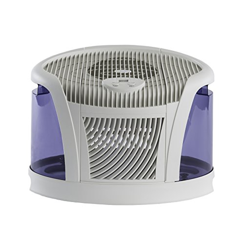 AIRCARE 3D6 100 Mini-Console-Style Evaporative Humidifier, White and Midnight Blue - 1