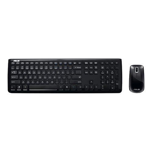 Asus W3000 KEYBOARD e MOUSE Tastiera Elegante con 101 Tasti e Mouse Wi-Fi, Nero/Antracite