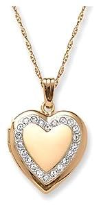 14k Yellow Gold Filled Heart Locket, 18