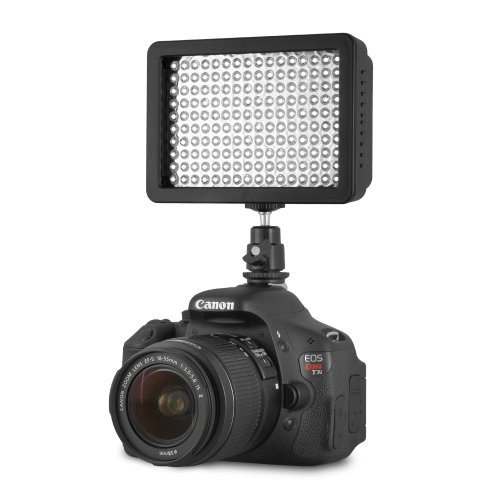 Chromo Inc.® 160 LED CI-160 Dimmable Ultra High Power Panel Digital Camera / Camcorder Video Light, LED Light for Canon, Nikon, Pentax, Panasonic,SONY, Samsung and Olympus Digital SLR Cameras image