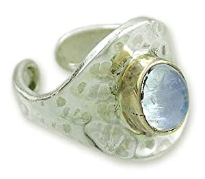 Moonstone ring, 'Fable' 7.0 (US Ring Size)