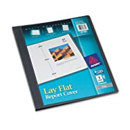 Lay Flat Report Cover, Flex Fastener, Letter, 1/2