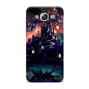 Samsung E7 Case [Hard Protective Cover] Printed Design- Castle Painting Printed Case