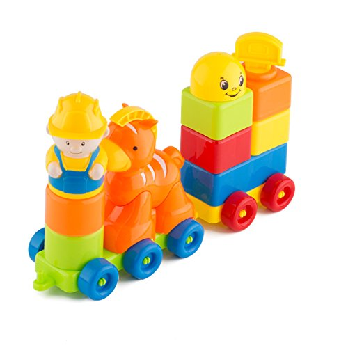 Blocks-ShowTop-12-Pieces-Building-Blocks-Children-Builders-with-Storage-Bag-Orange-Trojan