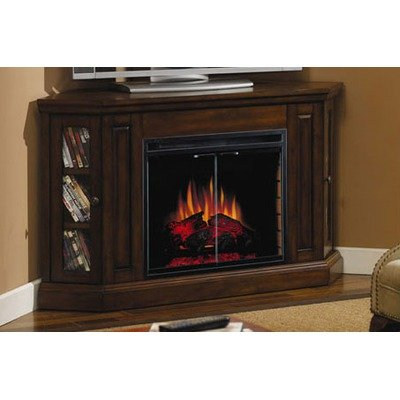 buy low price classic flame palisades electric fireplace and tv stand in empire cherry 23mm070. Black Bedroom Furniture Sets. Home Design Ideas