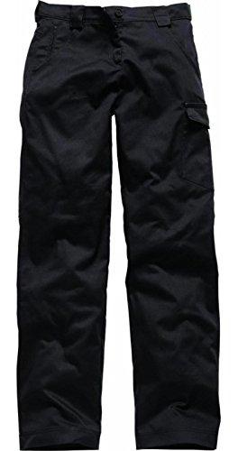 Dickies donna Falco rosso lavoro pantaloncini/pantaloni, lunghezza normale nero 14