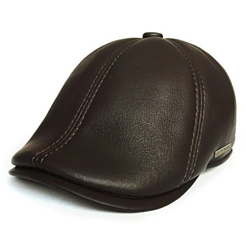 Discover Bargain lethmik Leather Flat Hat Gatsby Newsboy Cap Cabbie ivy Irish Hats Driver Hunting