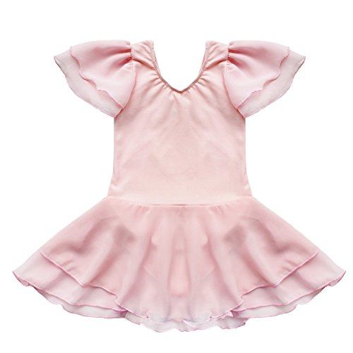 TIAOBU US Kids Gymnastics Ballet Tutu Dance Costume Dress