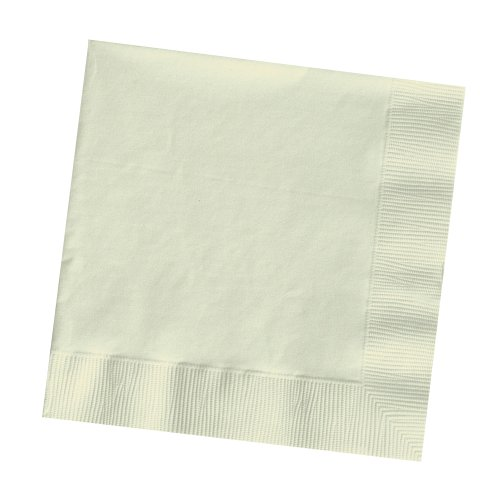 Creative Converting Touch of Color 2-Ply 50 Count Paper Lunch Napkins, Ivory