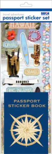 Passport Sticker Sets PP59198 Passport or Scrapbooking Sticker Set-Hawaii