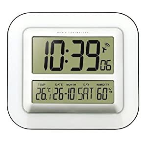 technoline wall clock with temperature and humidity display ws8006