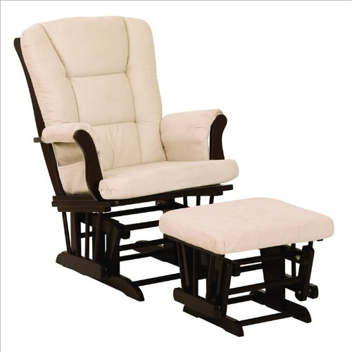 Sale!! Stork Craft Tuscany Glider and Ottoman, Espresso/Beige
