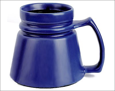 Wide Base Ceramic Mug: Cobalt Blue Glossy Auto Cruiser Ceramic Mug