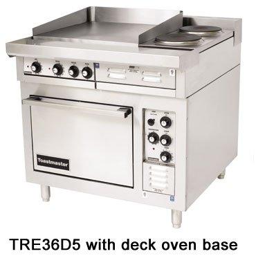 "Toastmaster Tre36C2 36"" Heavy-Duty Electric Range, (2) 12"" X 24"" Hot Tops W/(2) Round Hot Plates, 21.6 Kw"
