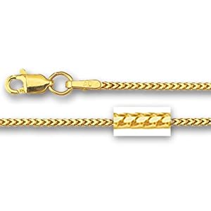 14K Yellow Gold Franco Chain (Width 1.4mm) Length - 20 Inch