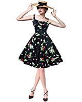 Maggie Tang Women's 1950s Vintage Rockabilly Dress
