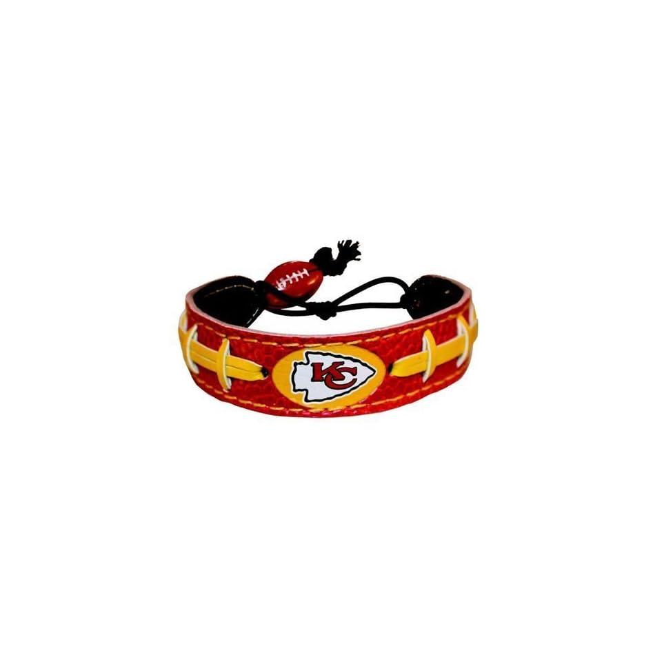 Kansas City Chiefs Team Color Football Bracelet Sports