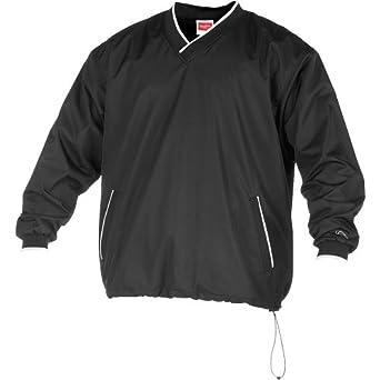 Rawlings Men's Rvnw2 V-Neck Pullover Jacket(Black, Small)