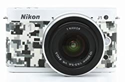 Japanhobbytool Nikon 1 J1 & J2 Camera Leather Decoration Sticker Digital Camouflage type 8500