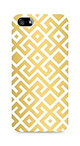 Amez designer printed 3d premium high quality back case cover for Apple iPhone 5s (gold pattern )