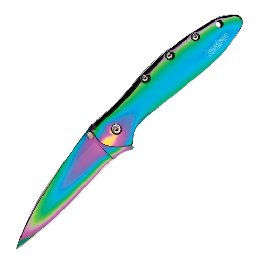 Kershaw Ken Onion Rainbow Leek Folding Knife with Speed Safe