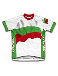 Bulgaria Flag Short Sleeve Cycling Jersey for Women