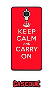 Caseque Keep Calm And Carry On Back Shell Case Cover for Xiaomi Mi4