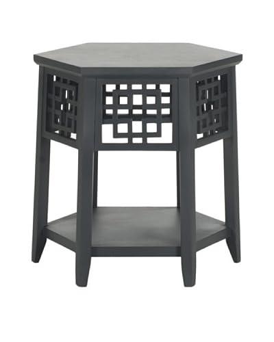 Safavieh Zelda End Table, Charcoal Grey