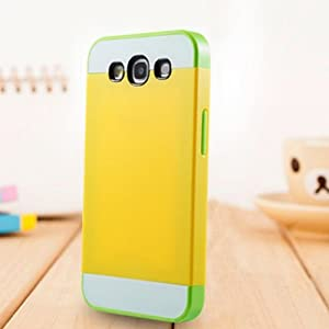 Foxnovo Multi-Color Dual-Layer-Hart Zurück Case Cover Schutzhülle Für Samsung Galaxy S3 /i9300 (Gelb + Grün)