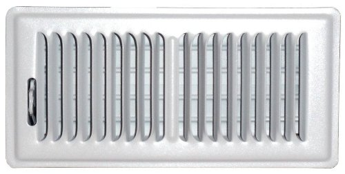 Speedi-Grille SG-410 FLW 4-Inch by 10-Inch White Floor Vent Register with 2 Way Deflection