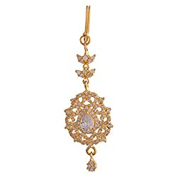 Ganapathy Gems 1Gram Gold Plated Mangtika With Cz Stones (8419)