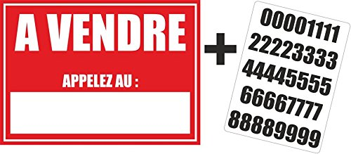 Autocollant-sticker-maison-appartement-a-vendre-planche-numero-telephone