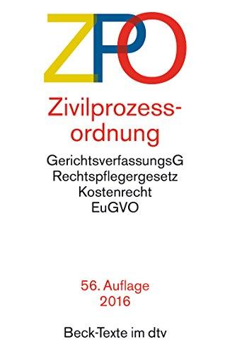 Zivilprozessordnung (Beck-Texte im dtv) (German Edition)