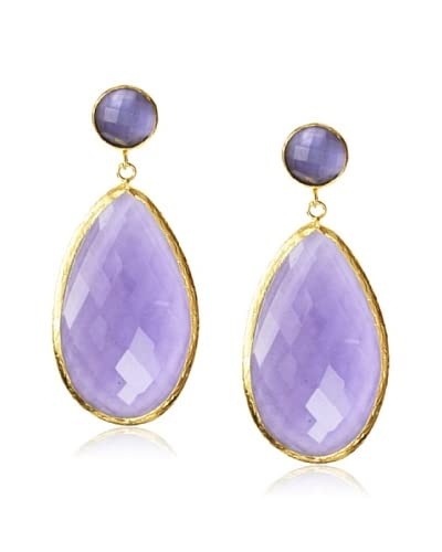 Coralia Leets Large Iolite Quartz Earrings
