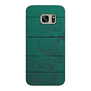 Special Green Wood Texture Print Back Case Cover for Galaxy S7