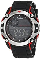 Armitron Men's 408232RED Sport Chronograph Black Resin Strap Watch by Armitron