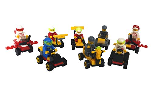 Lego-Compatible Buildable Vehicles (Set of 8) for Party Favors, Racing, Gifts, or Just to Build for Fun! (Ninja Coloring Book Party Favors compare prices)