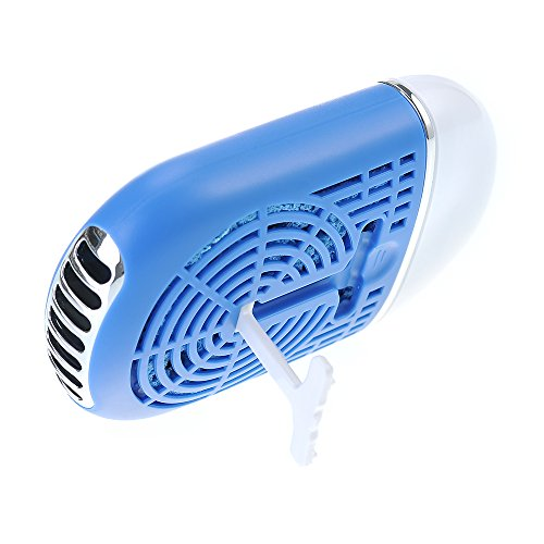 VicTec Handheld/Desktop Mini Air Conditioner Bladeless Powered by USB or Build-in Battery - Blue