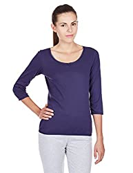 Jockey Women's Cotton Payjama Top (1325-0105-CNAVY_L)