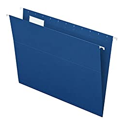 Pendaflex Essentials Hanging Folders, Letter Size, Navy, 25 per Box (81615EE)