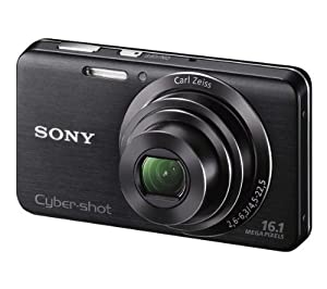 SONY DSC-W630 - black Plus 8 GB SDHC Memory Card Plus E-force - Camera battery Li-Ion 650 mAh Plus Ultra Compact Case
