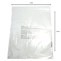 8 x 10 Self Sealing Clear Poly Bags Suffocation Warning Bags - 1.5mil - 100, 500, or 1000 Bags (100 Bags)