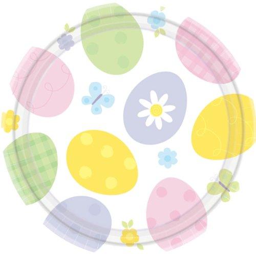 """Amscam Extravaganza Round Plates, 12 Per Package, 7"""", Multicolor"""