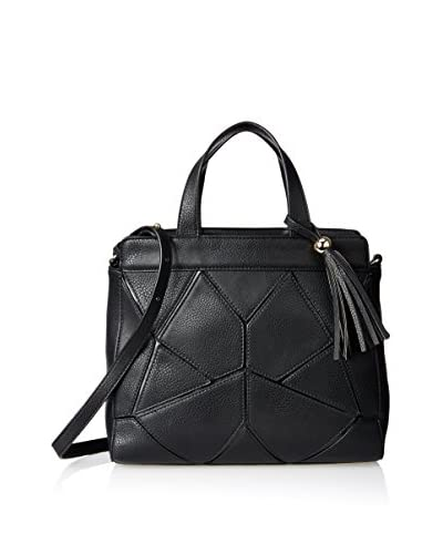 POVERTY FLATS by rian Women's Satchel with Shoulder Strap, Black
