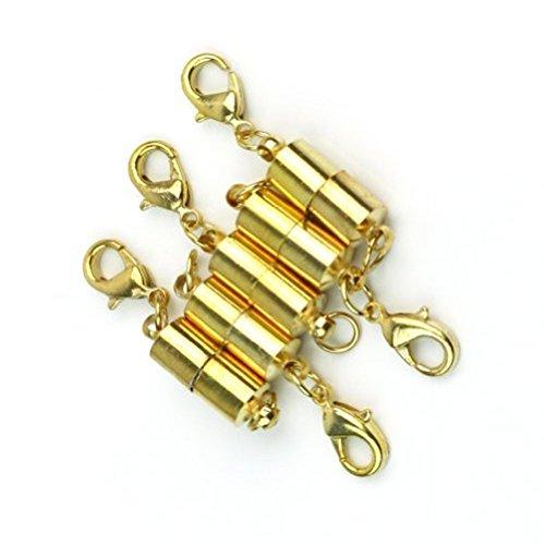 5 x Demarkt Magnet Halsketten Kettenverschluss Magnetverschluss Verschluß in Gold