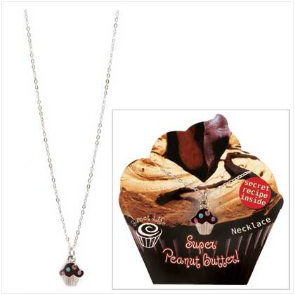 Zorbitz Peanut Butter Cupcake Necklace