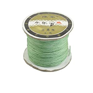 1 Roll Light Green Bracelet Bead String DIY Chinese Knotting Rat Tail Cord 150M