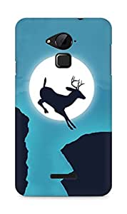 Amez designer printed 3d premium high quality back case cover for Coolpad Note 3 (Deer jump moon sky creative)