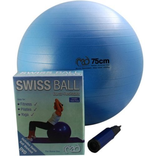 Fitness-Mad Swiss Ball with Pump & DVD